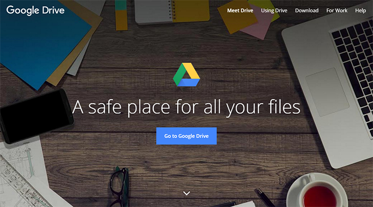 Google Drive to share all important files